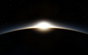 As our gaze drifts across the night sky in Azeban Orbital we catch a glimpse of the setting sun and set course to follow the escaping light.