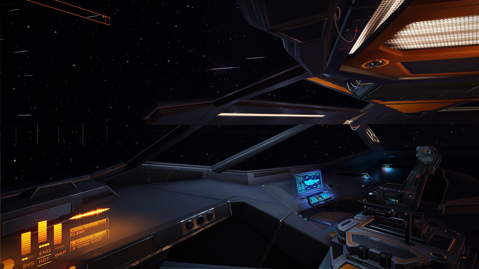 Anaconda Cockpit Elite Galaxy