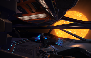 View of the bridge onboard an Anaconda.