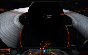 Approaching the gas giant from behind.