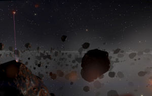 Three ships mining in the rings of Anahit