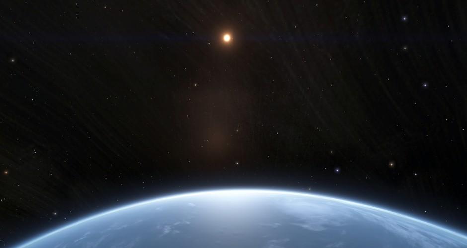 Sun rise at Earth