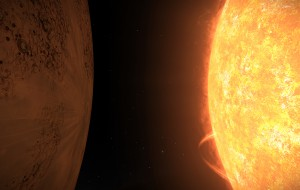 11 Cephei A 1, on the verge of being consumed by the expanding Orange Giant Star 11 Cephei A.