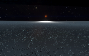 Sunrise at the rings of Ross 1503 3