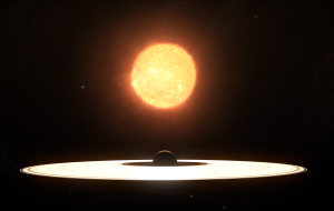 A view of Wunjo A with the systems primary star.