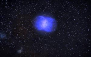 Next door to an exploding neutron star