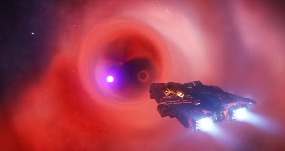 Black hole in nebula