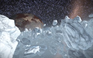 Ammonia world with frosty rings. Dropped in on the way from Jaques to Sagittarius A*