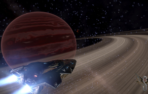 A hot Jupiter with outer rings in excess of 5,000,000km radius