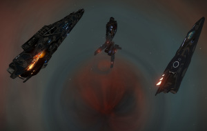 Meeting another CMDR at a black hole in the heart of the Eskimo Nebula