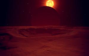 Atardece en el cráter