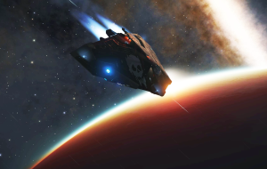 Cobra MK3 enters the atmosphere