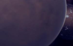 Dos planetas orbitando muy cerca entre si