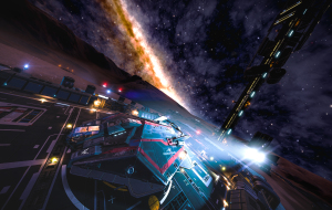 """AspX """"Francis Drake"""" docked at Farseer's showing little of how it's been used."""