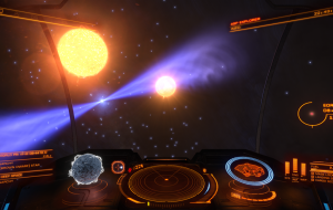 Be ready if you visit. You will land right between the pulsar and the star. Scariest entry jump in 3 years of exploring.