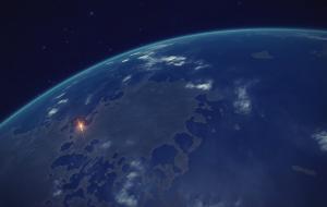 En órbita de un planeta terraformable