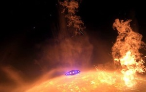 Passing by solar flares