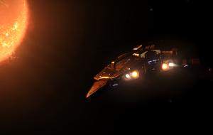 My golden Python basking