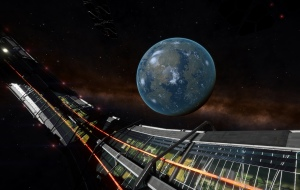 Scott Station orbiting a lush planet. Yet it seems there are still many people preffering to live behind in a can of millions tons of steel in an artificial world.