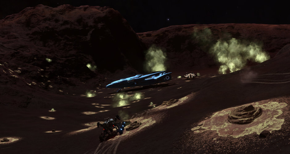 A field of silicate vapour geysers, found one day after the last one, this time by CMDR Kaz Archer, while on a joinT exploration trip.